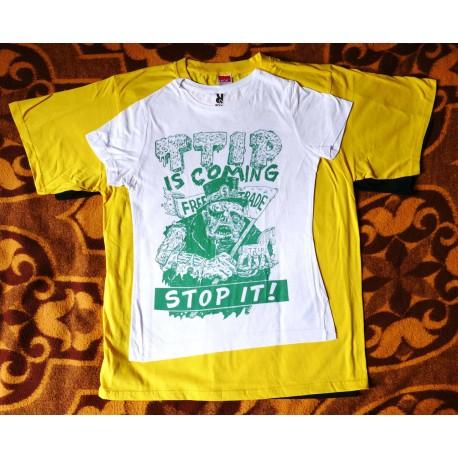Tričko bílo zelené