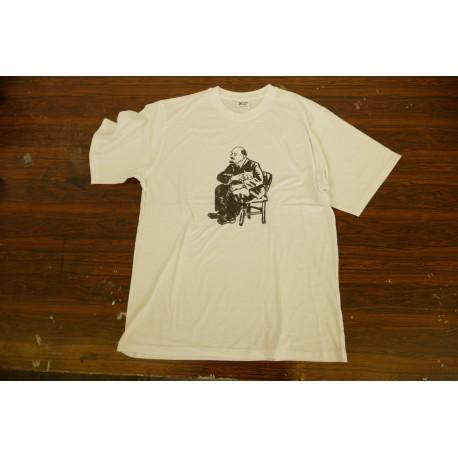 Tričko Lenin/kočka bílé pánské