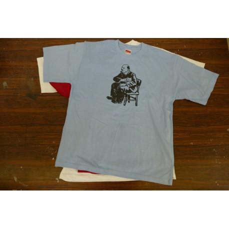 Tričko Lenin/kočka modré pánské