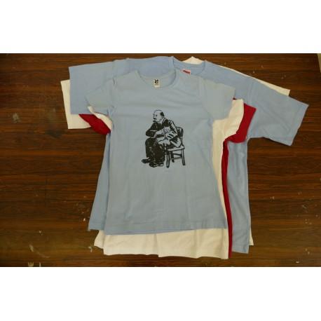 Tričko Lenin/kočka modré dámské